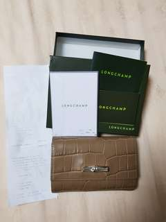 Longchamp wallet beige