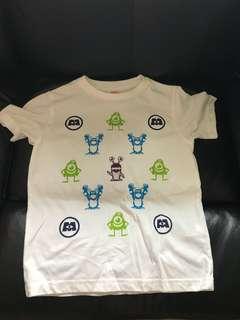 uniqlo 怪獸大學短袖衫