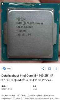 誠收i3 i5 i7 4代cpu LGA 1150