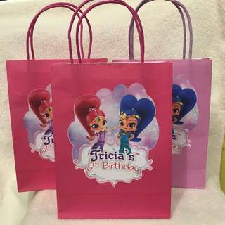 customize goodie bag / party bag / door gift / goodie box - Shimmer and shine