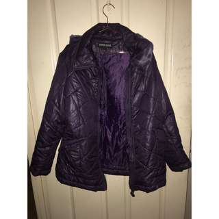 PURPLE WINTER PUFFER JACKET (RP:$120)