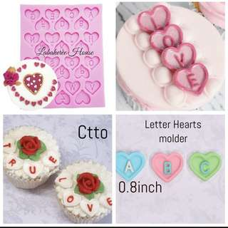 Hearts Letter silicon molder