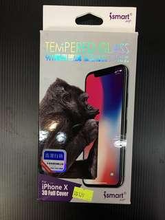 Ismart 9H康寧玻璃 超靚3D 全包保護膜 iphone X