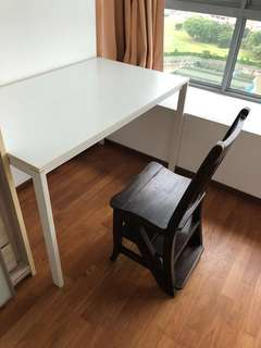 Study Table and Chair which can be use as a ladder