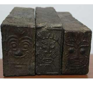 漢代饕餮古磚一組