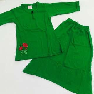 baju kurung rose