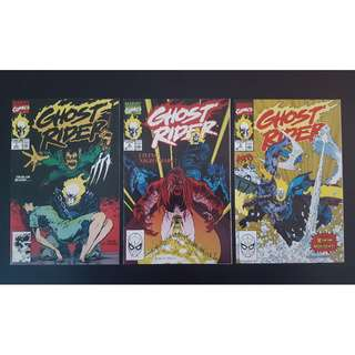 Ghost Rider #7,#8,#9 (1990 2nd Series) Complete Set of 3, Guest-starring X-Factor!