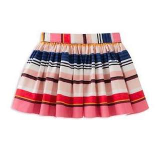 Authentic Kate Spade coreen striped stretch poplin skirt, multicolor