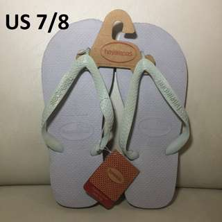[Auth w/ tag] HAVAIANAS Top Ice Grey, Unisex Size 7/8