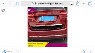 Electric Tailgate for Volvo S60