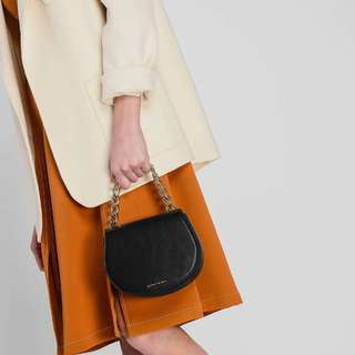 CNK metal chain portable saddle bag