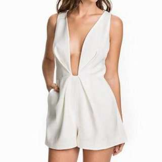 Finders Keepers The Creator Playsuit White XS