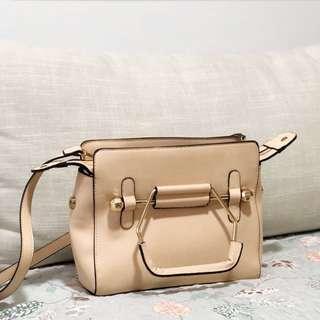 Pastel Pink Satchel Saffiano Bag