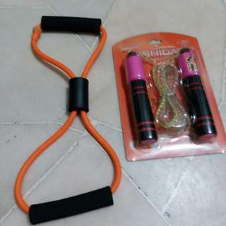 Jumping rope n exercise rope