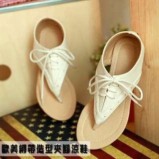 🚚 綁帶造型夾腳涼鞋/親子款