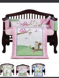 Baby Bedding Set -Pink Owl only