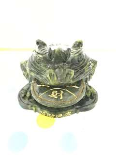 Rare Big Green Jade Wealth Toad 青玉蟾蜍 3.24kg