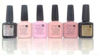CND Shellac Polish The Intimates Collection plus Base-Xpress-5-Top-Coat