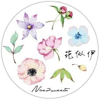 Colors Series Flower Washi Tape by N2meetu