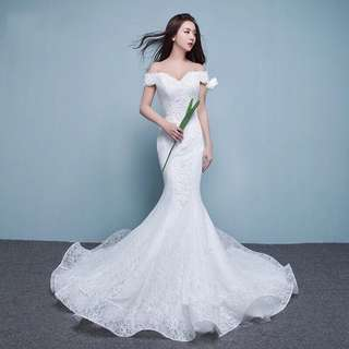 Korean Style Mermaid Wedding Gown