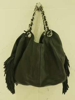 Oroton Leather Fringe Bag