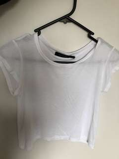 Glassons white crop top