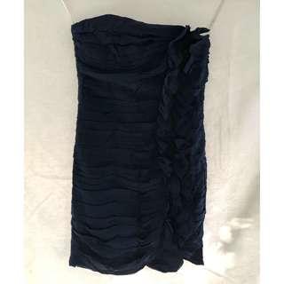 Tube type Ruffled Dress