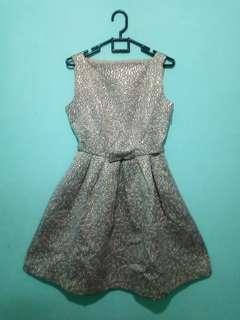 Glamour Gold Dress / Dress Pesta