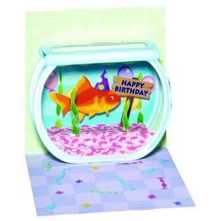 Treasures Pop-Up Birthday Card - Goldfish Birthday