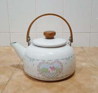 Vintage enamel decor teapot