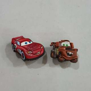 Lightning McQueen & Mater, Jibbitz Shoe Charms (For Crocs Clog)