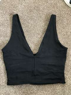 Black kookai crop top