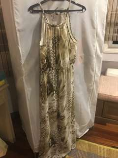 River Island Maxi Printed Dress Size M