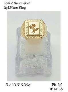18k saudi gold ring for him
