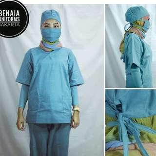 Baju Operasi/ Baju OK/ Baju Jaga Rumah Sakit