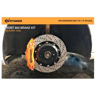 CJ DYNAMICS FRONT BIG BRAKE KIT (BIG 6-POT, 356) ON VOLKSWAGEN GOLF VII 1.4 TSI (AU)