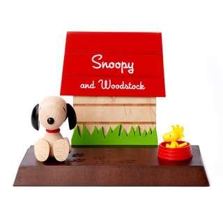 🚚 花生漫畫 Snoopy / 史努比&糊塗塌客木質狗屋手機架 / D257 / 史奴比 胡士托 手機座 支撐架