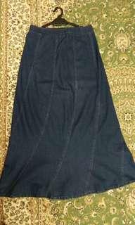 Ladies Long Jeans Skirt #20under