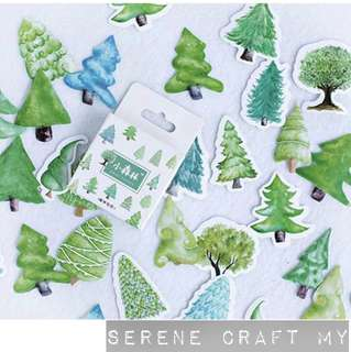 Set of 45pcs Trees In The Jungle Sticker Pack