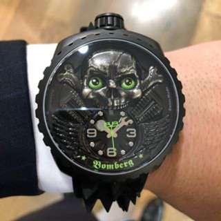 【公司貨最新款↘↘超值折扣↙↙】BOMBERG 炸彈錶 綠骷髏騎士 全球限量250只