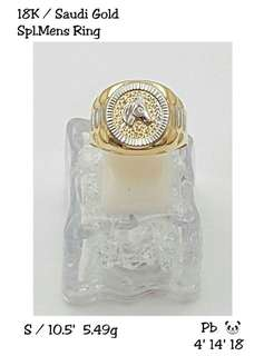 18k saudi gold ring for him