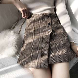Korean Ulzzang Plaided Skirt