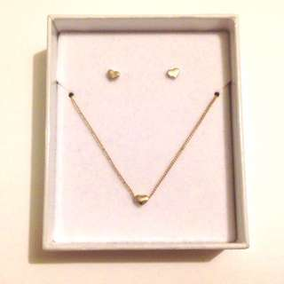 H&M Heart Earrings and Necklace Set