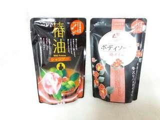 日本 椿油山茶花 洗髮精/ 沐浴乳 補充包