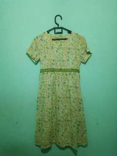 Flowery Green Dress