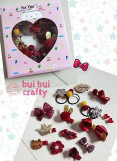 Red hair accessories gift box