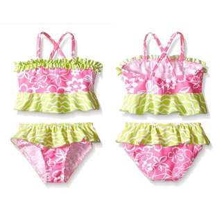 SALE 80% Off - 12-18/18-24 Mths BNWT Flap Happy 2pc swimsuit for baby girls