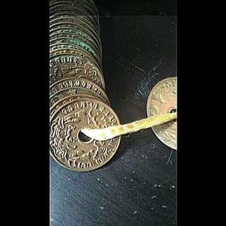 Uang kepeng dan koin hindia belanda tahun 1856, dsb