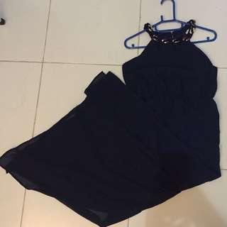 NEW Vero Moda Navy Evening Long Dress Import