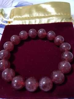 草莓水晶手链